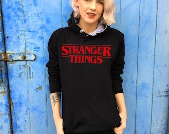 Retro Style Stranger Things Black Hoodie