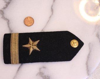 One Vintage Military LT Officer Shoulder Bar Military Collectible Presented as Gift on inside of Bar