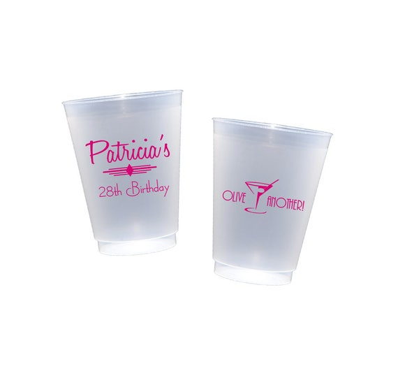 Birthday cup, wine cup, punch cup, wine cup, party cup, personalized plastic cup, tableware, party supplies, personalized cup, olive another