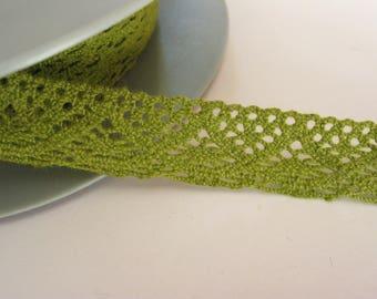 Binding lace 1.5 cm khaki green cotton same as front/back