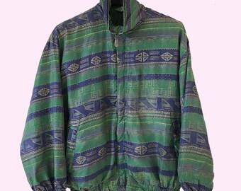 100% silk 80s jacket