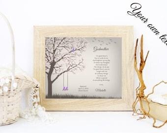 Personalized Godmother Gift | Godmother Poem | Gift From Godchild To Godmother | Baptism Thank You Gift - 48277