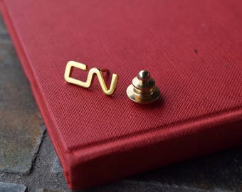 CN Rail Lapel Pin - Screw on Backing - Vintage Railway Collectible
