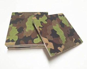 Camo Coasters - Camo Decor - Camouflage Decor - Camouflage - Father's Day - Drink Coasters - Ceramic Coasters - Table Coaster