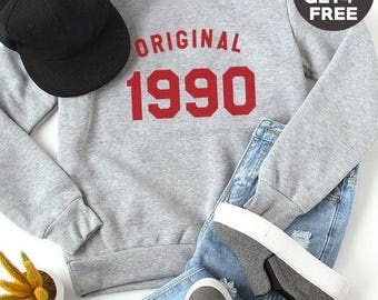 28th birthday gift sweatshirt trendy tees birthday shirt 1990 sweater pullover sweatshirt women gifts men sweatshirt ladies funny gifts idea