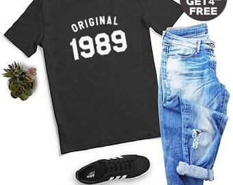 29th Birthday Gifts Shirt 1989 Birthday Tshirt Cool Shirt Graphic Tee Women Tshirt Funny Birthday Tees Men Tshirt Women Shirt Ladies Tshirt