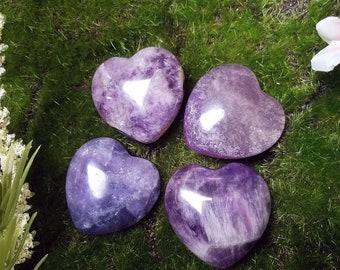 Amethyst Crystal Hearts
