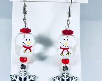 snowman/ snowflake Earrings