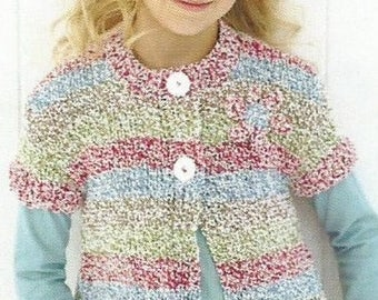 Instant Download  PDF - Quick and Easy Pretty Chunky Cardigan Knitting Pattern (44)