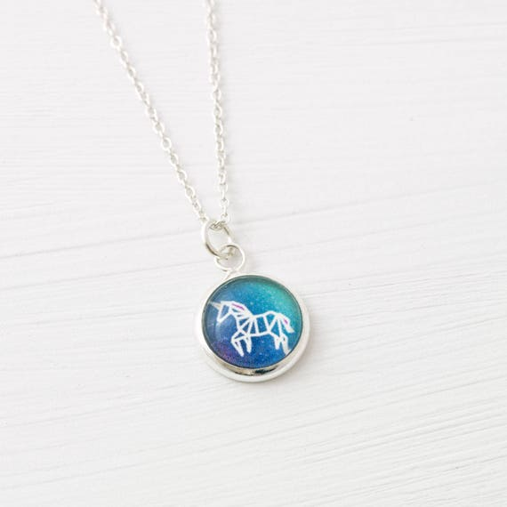 Tiny Unicorn Necklace