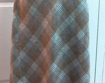 Vintage Wool Blend Plaid Maxi Skirt From Tailor Around Since Barbara Moss Company Vintage 70s Maxi Skirt With Fall Colors Back to School