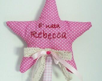 Stitchable star with Teddy bear