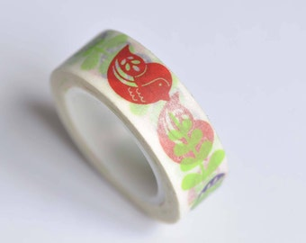 Lovely Birds Twig Branch Washi Tape 15mm Wide x 10M Roll No. 12551
