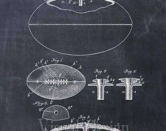 Football Patent Print Football Art Print