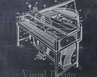 Piano Patent Print - Patent Art Print - Patent Poster