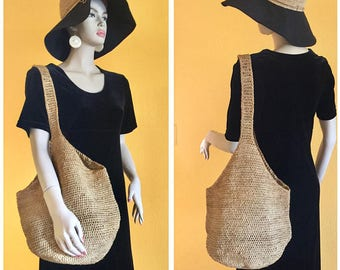 Helen Kaminski Crochet Raffia Hat Big Brim Woven Straw Summer Hat Traveler Picnic Beach Wedding 1920 Retro Natural Organic Designer Headwear