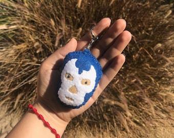 Hand stitched Felt Lucha Libre, Luchador Mask, Mascara Bag Charm, Key Chain