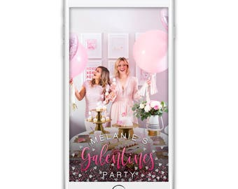 Custom Snapchat Geofilter, VALENTINES DAY Snapchat Filter, Galentines Party/Dinner Geofilter