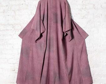 Lovely Lilac Purple Vintage Japanese Silk Kimono Robe