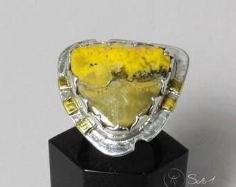 Jasper Ring Bombe Bee in silver 925
