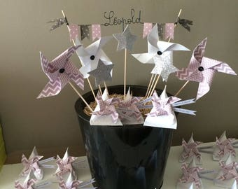 Cake Toppers Decoration name star windmill