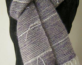 Kid mohair woven scarf