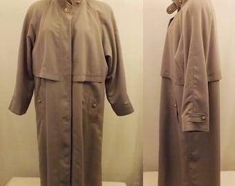 80s Vintage Fleet Street Gray Trench Coat Size XL