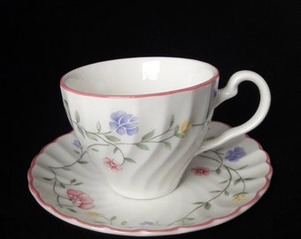 Summer Chintz teacup and saucer - Johnson Brothers - Made in England