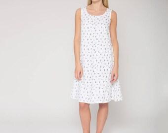 White Subtly Textured Linen Dress