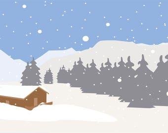 """Vectorgraphic """"Winterlandscape"""""""