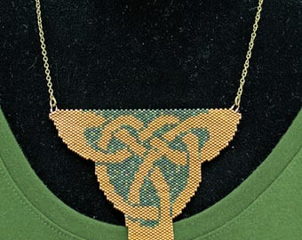 Beaded Celtic Knot Necklace