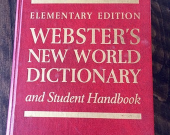 1968 WEBSTER'S DICTIONARY, New World Dictionary and Student Handbook, Vintage Mid Century Dictionary, Maps