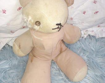Vintage Creepy Teddy Bear   Antique Stuffed Bear   Creepy Cute