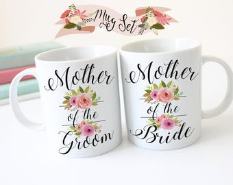 Mother of the Bride Gift, Mother of the Groom Gift, Mother of the Bride Mug, Mother of the Groom Mug, Bridal Party, Floral Coffee Mugs