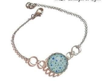 Bracelet fine silver with 18 mm cabochon * Star * (010118)