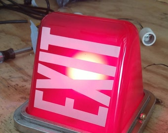40's Era Glassed EXIT sign.