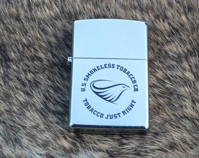 US Smokeless Tobacco Co Tobacco Just Right Zippo unfired