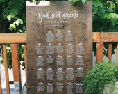 Large Seating Board by Hawaii Calligraphy, Wedding Seating Board, Wedding Seating Chart, Calligraphy Escort Sign, Escort Sign, Seating Chart