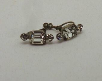 Vintage earrings  - Screw back diamante earrings