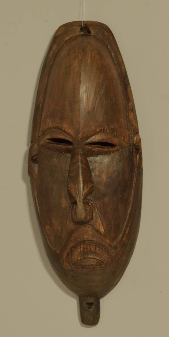 Papua New Guinea Mask Spirit Mask Lower Sepik Provence Ceremonial Male Mask