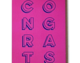 Congrats - Modern Congratulations Card