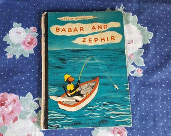Babar and Zephir by Jean De Brunoff Hard Cover Children's Storybook FS