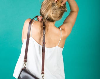Chocolade brown leather mini purse