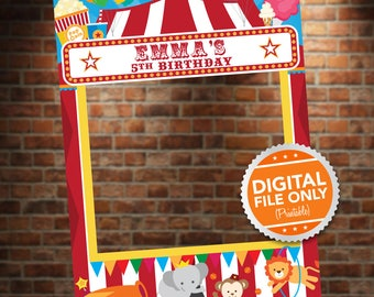 Circus Theme Photo Booth. Party Prop Frame. Digital File only