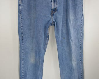 1980's Levis 550 Jeans 39 40 Waist Red Tab Levis High Waisted Boyfriend Boho Mom Jeans Relaxed Fit Straight Leg 32 Inseam