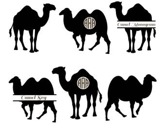 Camel Svg, Camel monogram svg, camel clipart, Animal Svg, camel silhouette files, circut files, Nativity SVG, vector, svg, dxf, eps, png.