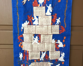 Vintage 1977 United Nations  UN Linen Tea Towel