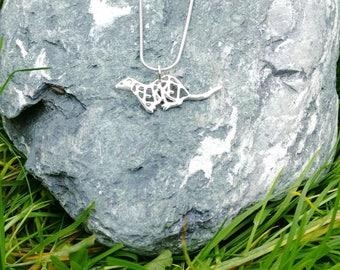 Small Ferret necklace, Sterling Silver, ferret jewellery, ferret pendant, ferret lover gift, ferret jewellery, 3D printed,