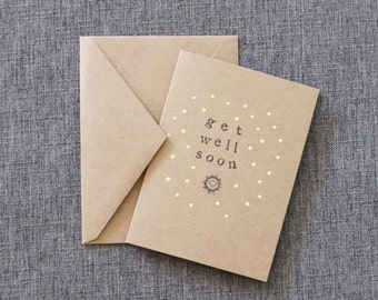 Get Well Soon Cards // Set of 4 // Greeting Cards // Feel Better