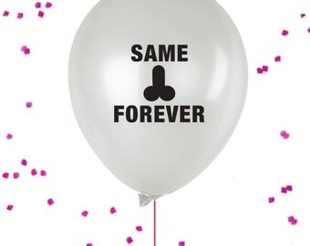Same Penis Forever Balloons, Penis Confetti, Bachelorette Party Balloon, Bachelorette  balloon, X-rated Party Decor Penis Balloon
